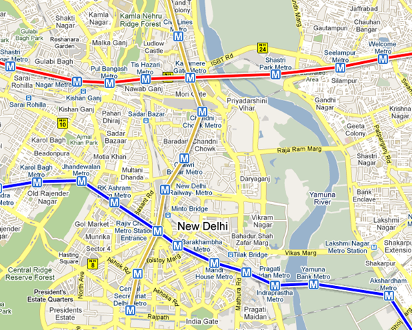 Subway Map Google Maps How.Delhi Metro Routes Now Available On Google Maps Woikr