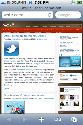 iPhone 4 working in India on MTNL & BSNL 3G- woikr
