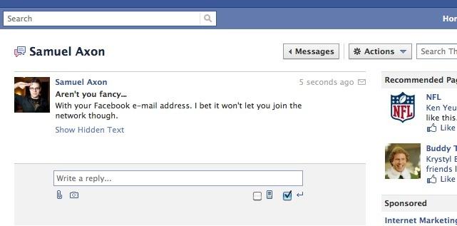 Facebook-Conversation