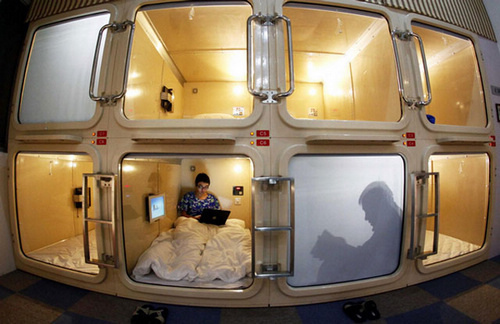 Chinese Capsule Hotel Room