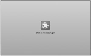 Chrome Flash Blocked