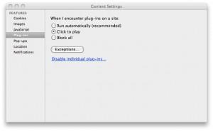 Chrome Preferences Plug-ins