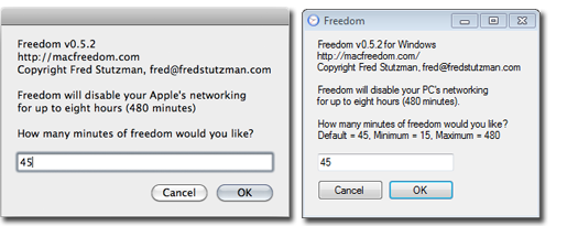 Freedom from Internet for Mac and Windows