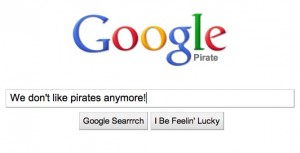 Google Does Not Like Pirates Any More!