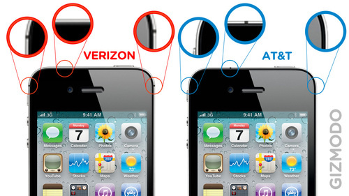 iPhone4 Comparison AT&T And Verizon