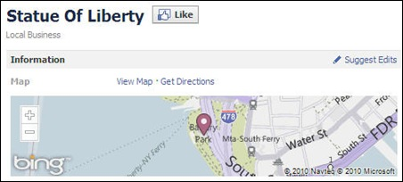 Facebook-Places-With-Bing-Maps-Statue-Of-Liberty