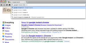 Chrome Instant Search