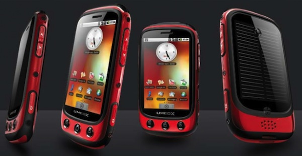 Umeox Apollo, Solar Powered Rugged Android Phone