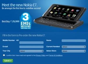 Nokia E7 Pre-order for 29,999
