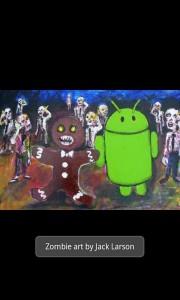 Gingerbread Zombie Art by Jack Larson