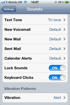 IOS 5 Settings Sounds Vibration Patterns for Everyone