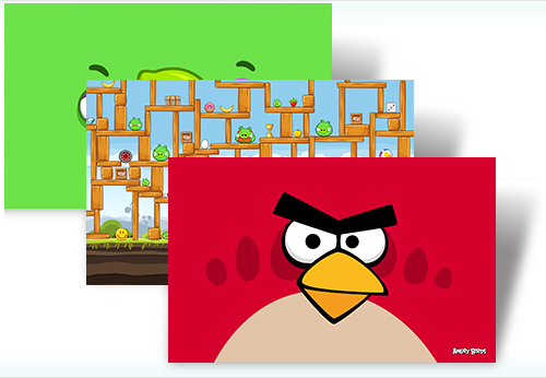 Angry birds windows theme