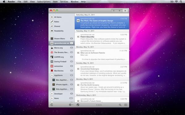 Reeder mac screenshot 3