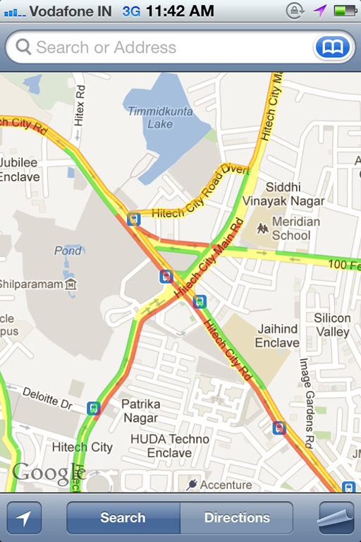 Google Maps Live Traffic Info Now Available For India Also On