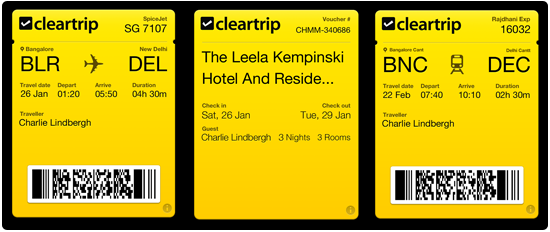 cleartrip passbook