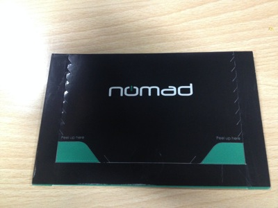 nomad packing envelope closed